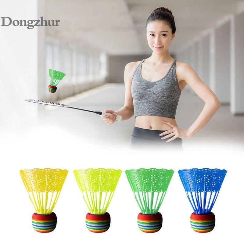 10 PCS Badminton Shuttlecock EVA Rainbow Ball Head Nylon Badminton Feathers For Game Sport Entertainment With Transparent Barrel