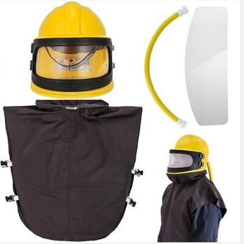 HOLDWIN Labor Protection AIR feed Supplied Safety Sandblast Helmet Industry Blast Abrasive Hood Protector
