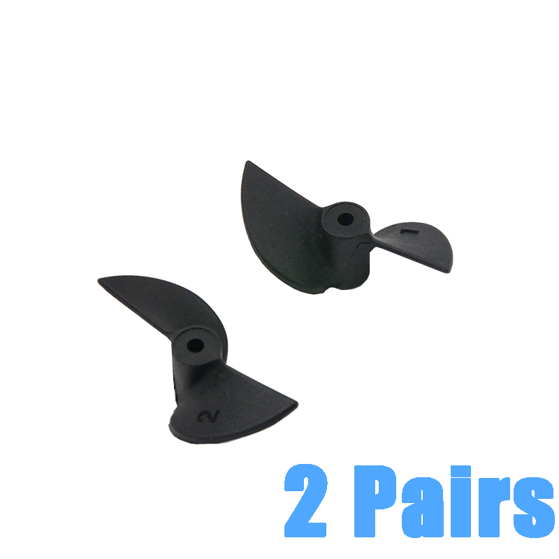 2pair Remote Control Ship Parts 2 Blades CW CCW Nylon RC Boat Propellers Set for 2mm /0.07inch Shaft High Quality Nylon RC parts image