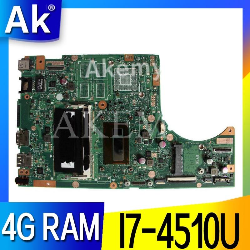 AK TP500LA/TP500LN Laptop Motherboard For ASUS TP500LA TP500LN TP500LD TP500L TP500 Test Original Mainboard 4GRAM I7-4510U