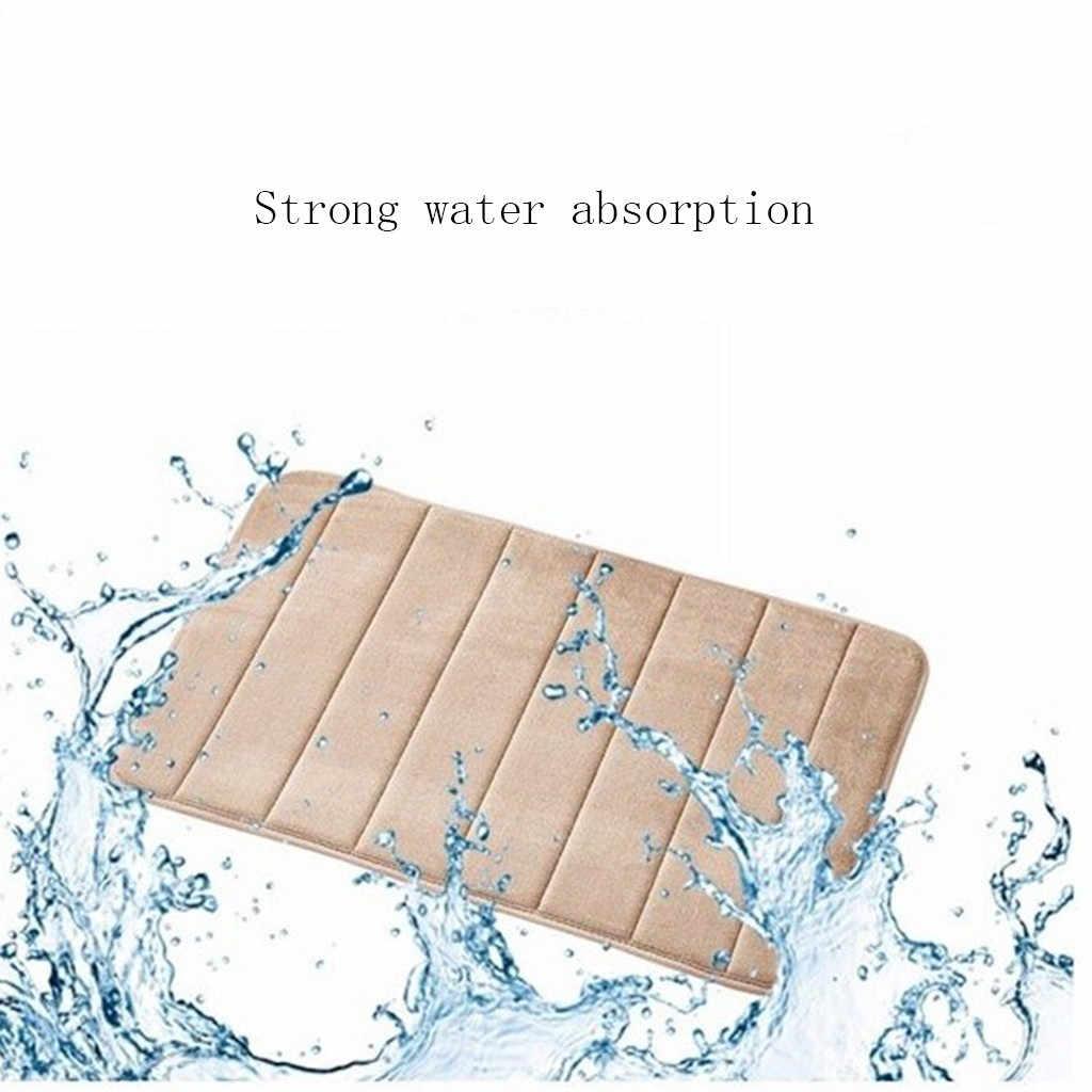 Novo 40*60cm tapete de banho tapete do banheiro absorção de água shaggy memória espuma tapete do banheiro cozinha piso tapis salle de bain btz