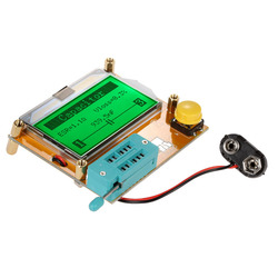 Multifuncional display lcd esr transistor tester resistor indutor capacitor scr mos tubo triode newst
