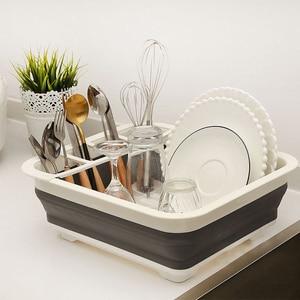 Складная Сушилка для сушки посуды, Портативная Складная Сушилка для слива посуды, органайзер для посуды, кухни, кемперов, дренажная доска дл...