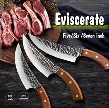 5 #8222 6 #8221 7 #8222 kuty nóż do trybowania Survival Camping BBQ serbski rzeźnik tasak do mięsa ryby krojenie kuchnia noże szefa kuchni pudełko tanie tanio STAINLESS STEEL Zaopatrzony AE5-LJH-041 Ce ue Trybowanie noże Handmade Forged High Carbon Clad Stainless Steel Full Tang Wood Handle