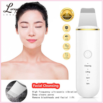 Ultrasonic Skin Scrubber Deep Cleansing Facial Cavitation Peeling Cleansing Spatula Exfoliating Beauty Ultrasonic Cleaner недорого