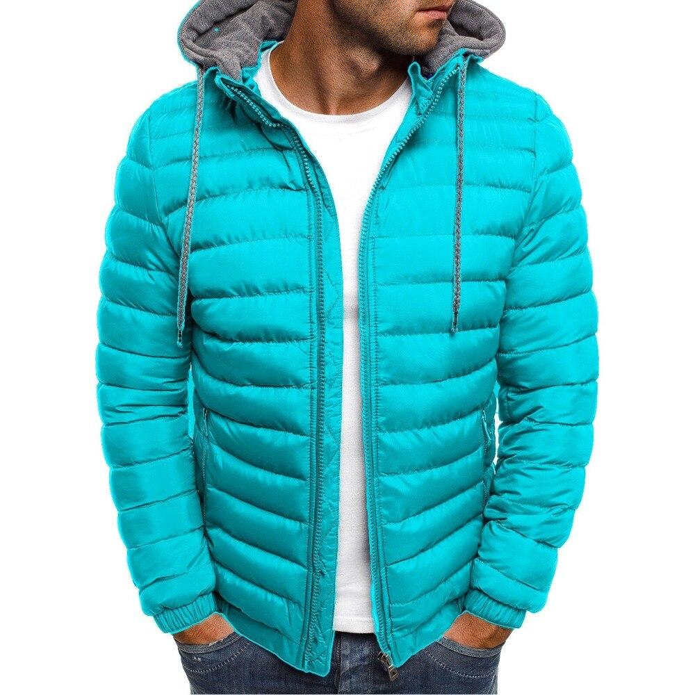 Zogaa parca masculina moderna, casaco de algodão