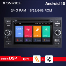 8 core 4G Ram Android 10 Car DVD player For Ford Focus 23 mk2 Mondeo 4 Kuga Fiesta Transit Connect S-C MAX GPS Navigation Camera(China)