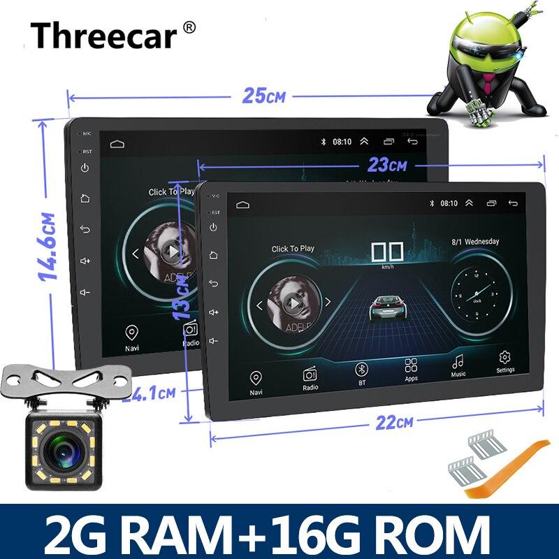 2Din 2G RAM 2 Rádio Do Carro um din Android Autoradio Multimedia Player de áudio Auto 9/10 polegada NAVEGAÇÃO GPS WIFI Bluetooth MP5 estéreo