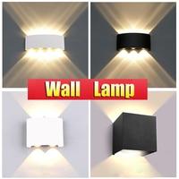 LED Wand Lampen IP65 Außen Beleuchtung Wasserdicht Garten Lichter 85-265V Innen Wand Licht Aluminium Für Balkon Veranda treppen Lampe