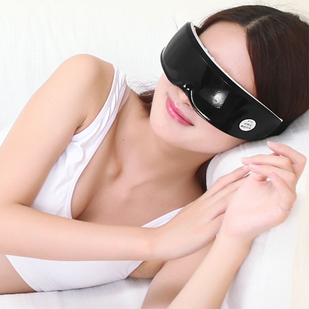 Wireless Rechargeable Vibration Smart Eye Massager Eyes Care Device Wrinkle Fatigue Relieve Magnet Therapy Massage Glasses