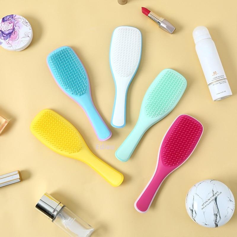 Anti-static Massage Hair Brush Combs Barber Scalp Massager Women Detangler Wide Tooth Cepillo Pelo Peines  Tangle Teezer