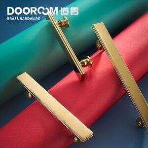 Image 2 - Dooroom tiradores de latón para muebles, tiradores de lujo de color negro y dorado, para armario, armario, barra de vino, cajón, pomos