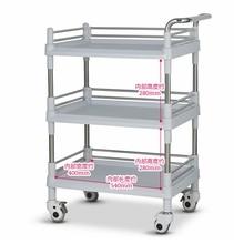 Hanzhi трехслойная медицинская коляска утолщенная ABS пластиковая сталь хирургическое оборудование тележка для салона красоты Медицинский лаборатория без ящика