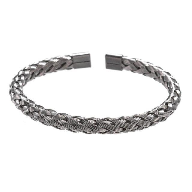 Bracelet Or/acier inoxydable titane hommes 4