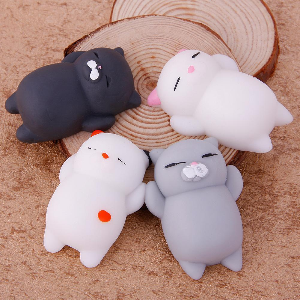 1Pcs Cute Cartoon Animal Mochi Cat Pinch Le Toy Slowly Rises Child Kids Adult Relieve Stress Toy Soft Squeeze Abreact Fun Gifts
