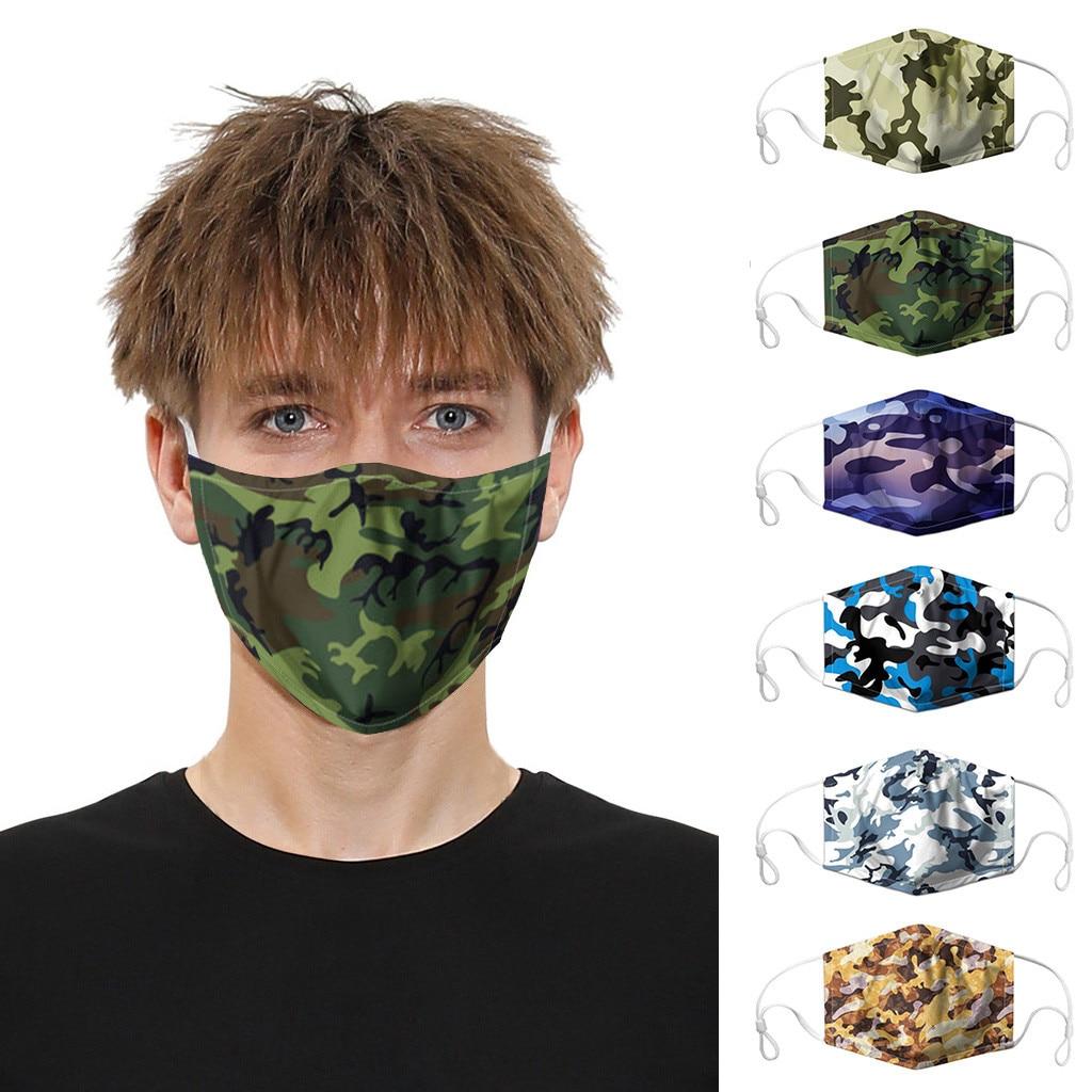 Fashion Classic Camouflage Mouth Face Maske For Adult Men Women Print Maske Washable PM2.5 Protective Dust Face Maske Reusable