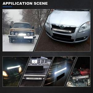 Image 5 - 20 zoll 288W 3 Reihe LED Licht Bar Offroad Led Bar Flash Strobe Fahren Warnung Licht für Auto lkw SUV ATV 4x4 4WD 12v 24V