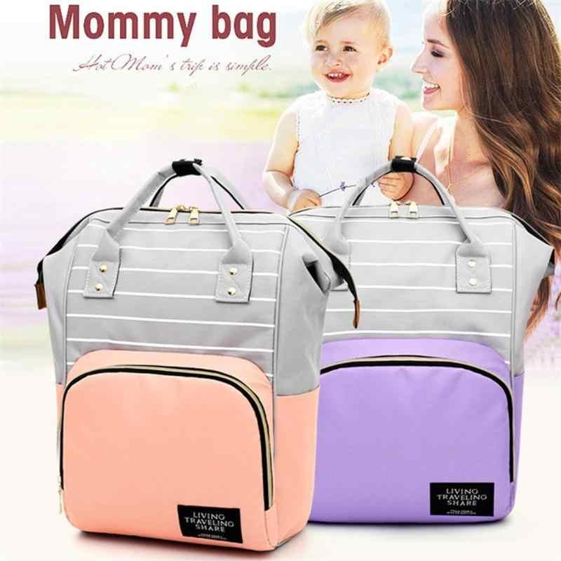 Grande capacidade múmia sacos de fraldas com zíper mãe mochilas de viagem bolsas maternidade grávidas fralda do bebê enfermagem sacos