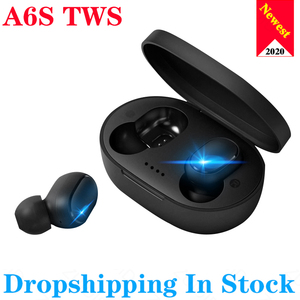 A6S TWS Wireless Bluetooth 5.0 Earphone TWS For Xiaomi Redmi Airdots Headsets Noise Cancelling Earbuds for Huawei SamgSung Phone