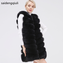 Real Fox Fur Jacket Natural Fur Coats Vest Real 2019 new style Long Coat Winter Warm Coat Natural fur coat Real Fox Fur Vest cheap saidengqiuli Thick (Winter) Casual Thick Warm Fur Real Fur Full Pelt O-Neck Zippers Sleeveless Vest 2009003 REGULAR WOMEN