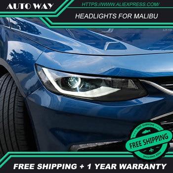 Car Styling Head Lamp case for Chevrolet Malibu 2017 2018 Headlights Malibu LED Headlight DRL Lens Double Beam Bi-Xenon HID