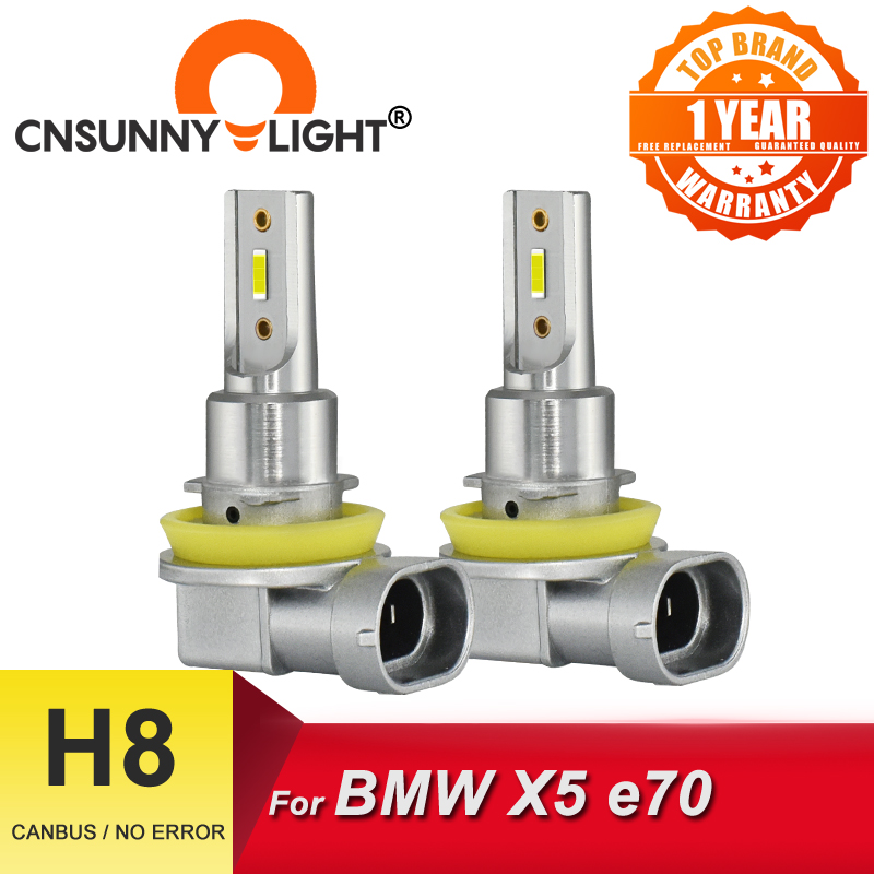 CNSUNNYLIGHT H8 LED Angel Eye Car Fog Lamp H11 Canbus Bulb 2400Lm 1900K 3200K 6000K 8000K Red No Error DRLs Light For BMW X5 e70 Car Headlight Bulbs(LED)  - AliExpress
