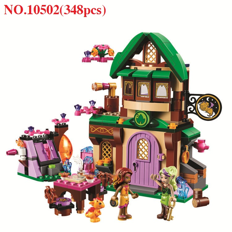 348pcs Bela 10502 Diy Elves The Starlight Inn Kits minis Building Blocks Brick Toys For Children toys for girls christmas 41174 image