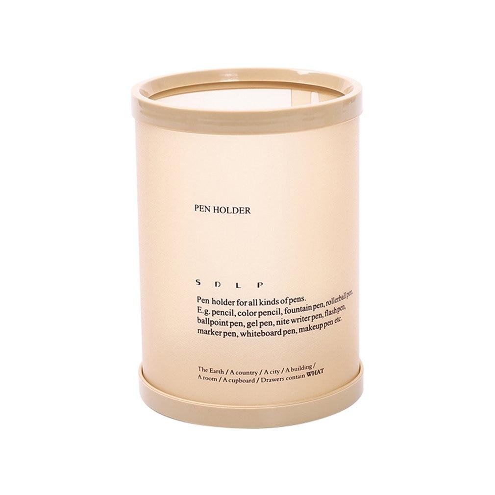 Creative Cylindrical Pen Holder Insert Desktop Decoration Stationery Fashion Pen Office Supplies Storage Box