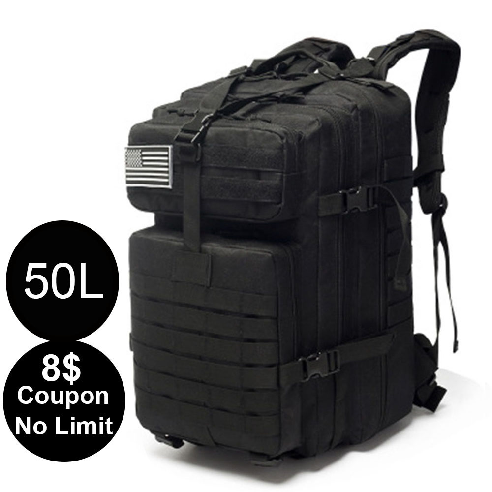 50L/15L Outdoor Bags Sport Army Backpak Camping Hiking Military Backpack Large Capacity Molle Expands 3P Tactical Bag