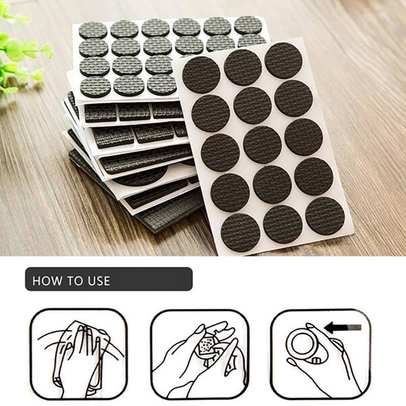 Furnishing Non-slip Mat Thicken Protecting Pad Self Adhesive Desk Feet Cover Noise Avoiding Non-slip Mat For Home Office