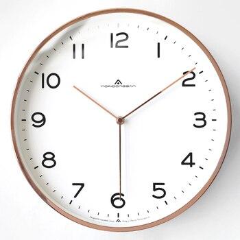 Modern Design Simple Wall Clock Living Room Nordic Luxury Creative Clock Wall Bedroom Quiet Kitchen Quartz Home Decor AB50ZB