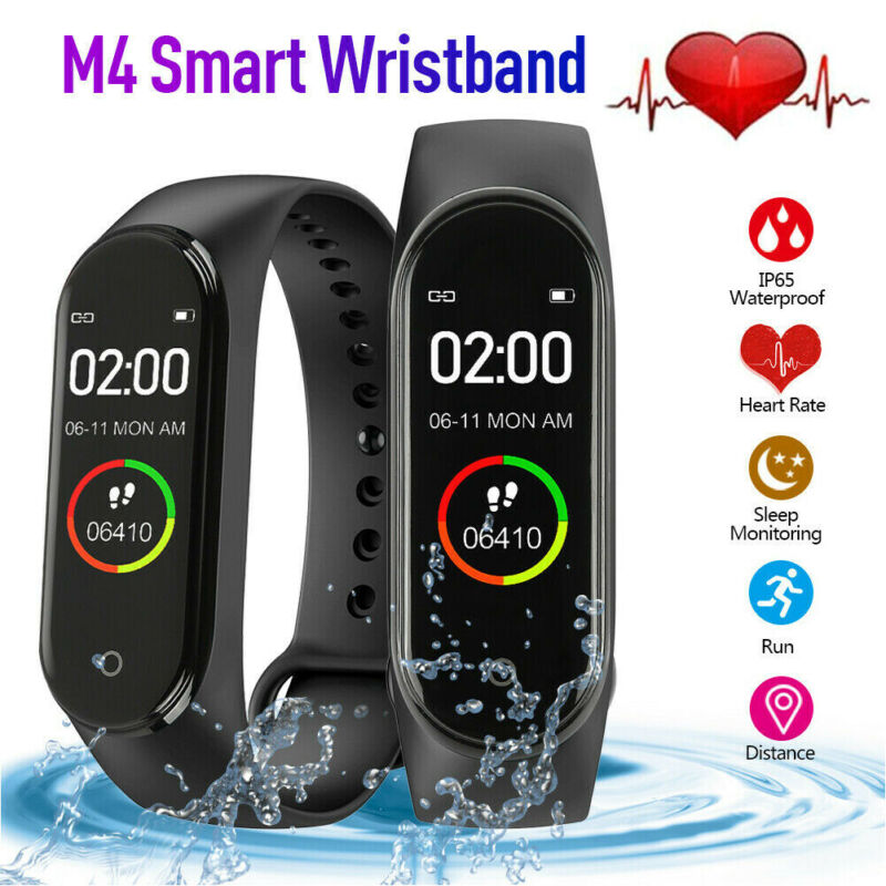 Fashion M4 Smart Watch Bracelet Bluetooth 5.0 Wristband Waterproof Fitness Amoled Band Sport Tracker For Android IOS New