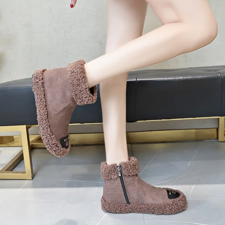 Women Boots 2019 New Plush Snow Boots For Winter Shoes Women Casual Lightweight Ankle Botas Mujer Warm Winter Boots Female 84