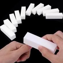 1/2/10 pçs durável esponja arquivo de unhas branco lixa buffer bloco acrílico polonês pedicure manicure unha arte ferramenta