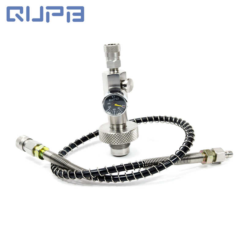 PCP Airforce Filling Adapter DIN Station Stainless Steel Push Air Bleed With Different Hoses