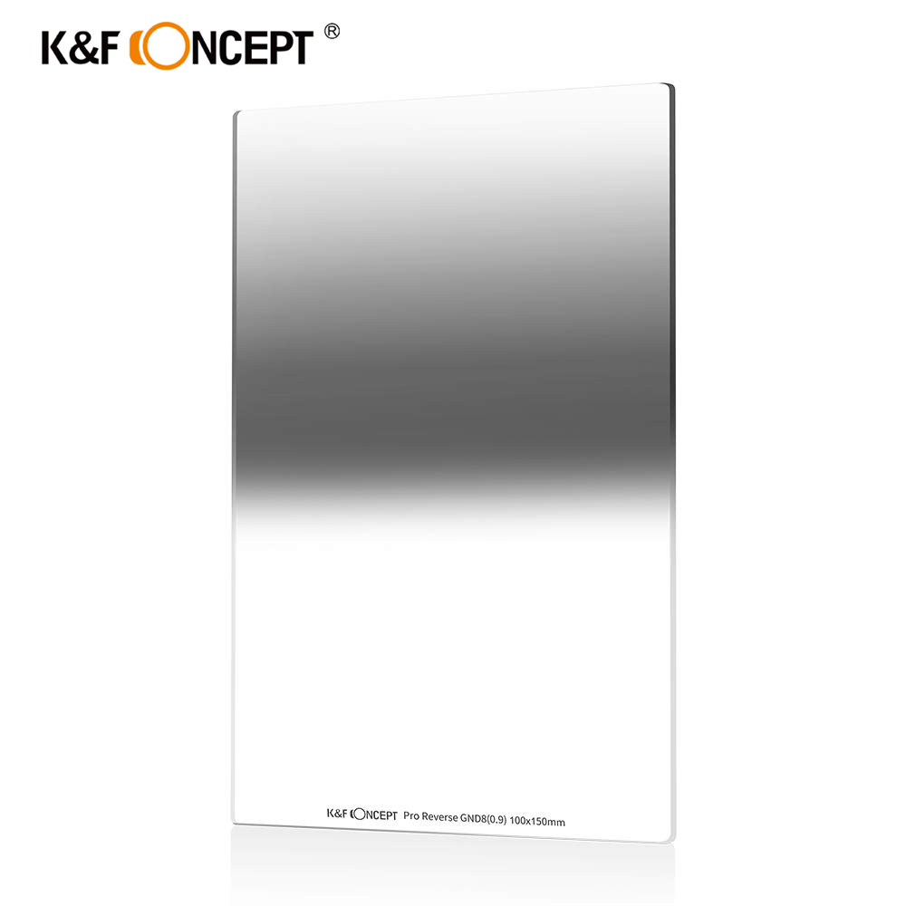 K & F Concept 100X150mm filtre à densité neutre inverse filtre à miroir dégradé multi-couches Compatible pour appareil photo Canon Nikon Sony