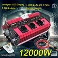12000WInverter 12v 220v Auto inverter 3 Buchse EU LCD Große Power Inverter Soler Power Inverter Auto Ac 220v Konverter Inverter