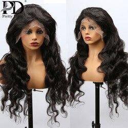 4X4 dentelle fermeture perruques de cheveux humains brésilien 150 densité dentelle avant perruque Remy cheveux 13x4 brésilien corps vague perruques pour les femmes noires