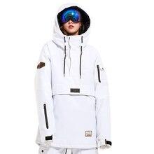 LTVT лыжный костюм для мужчин и wo Мужская ветрозащитная Толстая теплая дышащая спортивная куртка с одним и двойным бортом Лыжная одежда белого цвета
