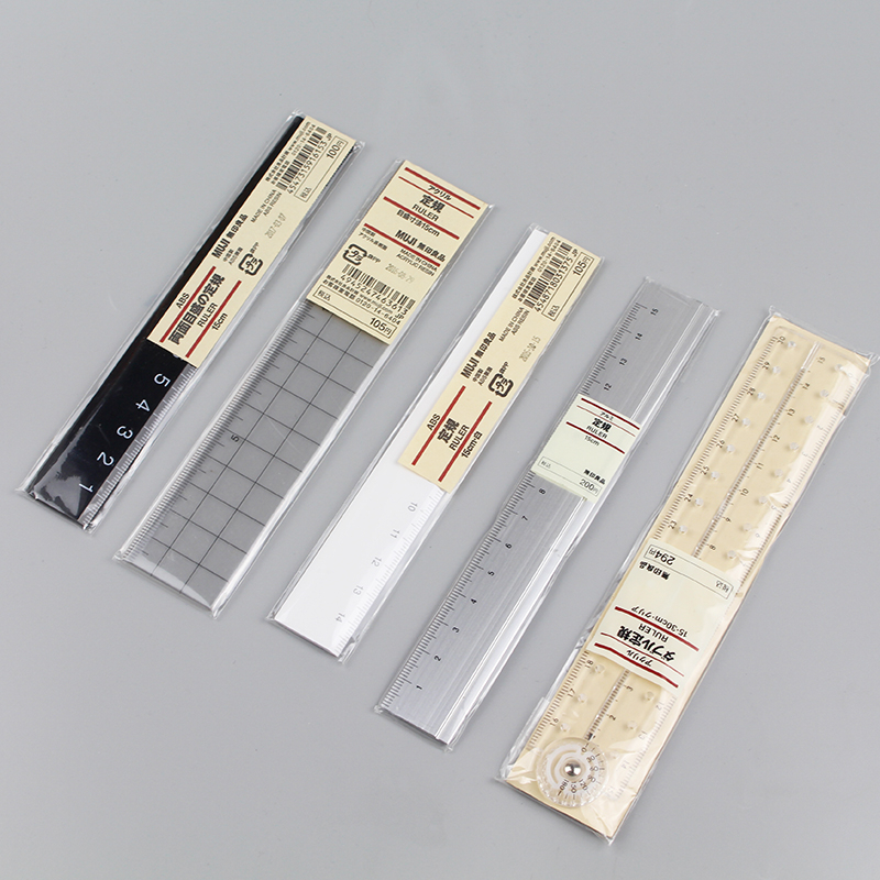 1PC MUJI 15cm Simple Transparent Ruler Plastic Acrylic Ruler Learning Stationery Drawing Supplies Student Stationery