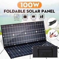 100W 18V Solar Panel Semi flexible Monocrystalline Solar Cell+10A/20A/30A Controller Outdoor Connector Battery Charger