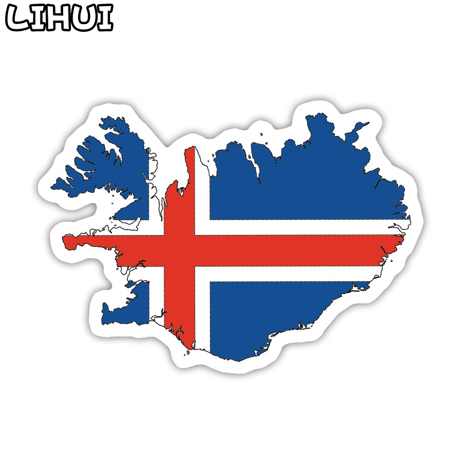 1 PCS Iceland Flag Sticker Toys For Children Countries Map Travel Sticker To DIY Scrapbooking Suitcase Luggage Laptop Car Motor