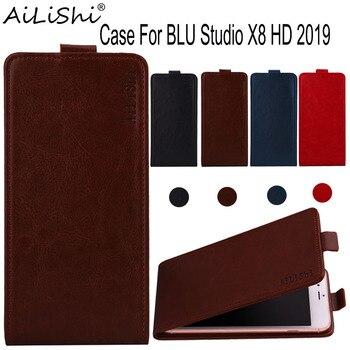 Перейти на Алиэкспресс и купить AiLiShi чехол для BLU Studio X8 HD 2019 с откидной крышкой высшего качества из искусственной кожи чехол BLU эксклюзивный 100% защитный чехол для телефона + о...