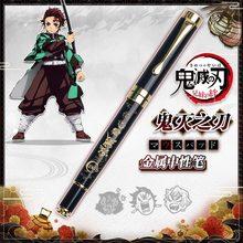 1 шт. аниме демон убийца Kimetsu без Yaiba гелевая ручка камадо Tanjirou Nezuko шариковая ручка 0,5 черный Заправка шариковых ручек
