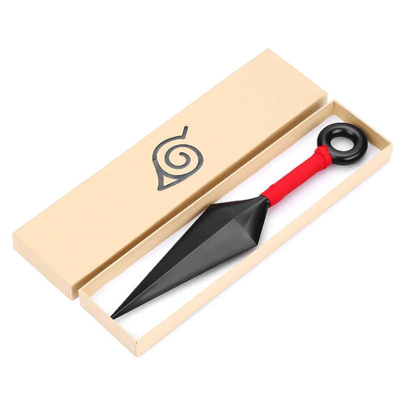 Anime Naruto Konoha Ninja Kakashi Cosplay Prop Kunai bıçakları silahlar zırh çocuk yetişkin atma dart aksesuarları cadılar bayramı hediye