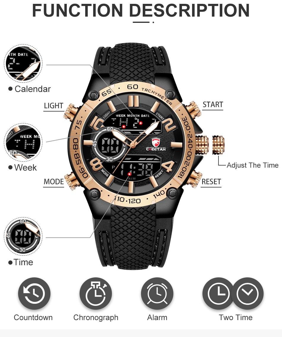 H48e3fa44e2d242449b91fd7963b71a41W Top Luxury Brand CHEETAH Men Watch Fashion Sports Wristwatch Digital Quartz Analog Clock Waterproof Watch Men Relogio Masculino
