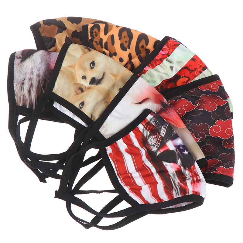 1pc Face Mask Camouflage Leopard Print Anti Haze UV Dust Proof Cycling Mouth Cover Mask Breathable Riding Mouth Mask Novely Toys