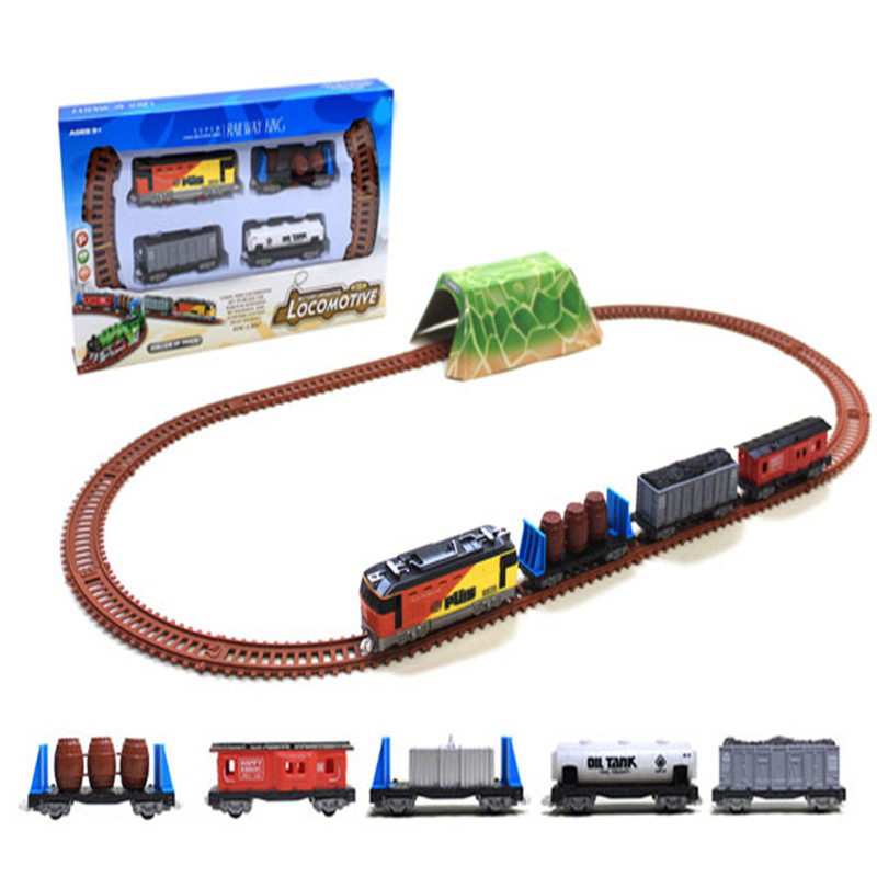New Style CHILDREN'S Train Camera Track Toy Assembled Electric Camera Track Christmas Small Train Classical Rail Train
