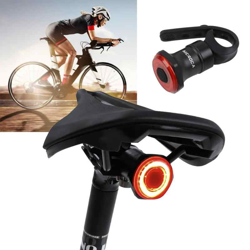 Auto Induction USB LED Bike Rear Taillight MTB Road Bicycle Night Warning Light