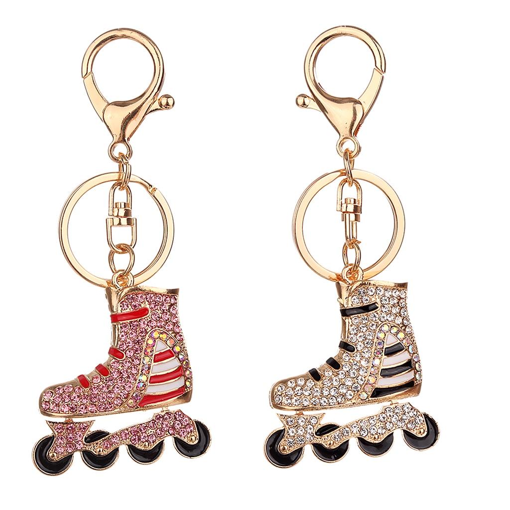 Rhinestone Key Chain Car Key Ring Accessory Crystal Bag Decor Keyring